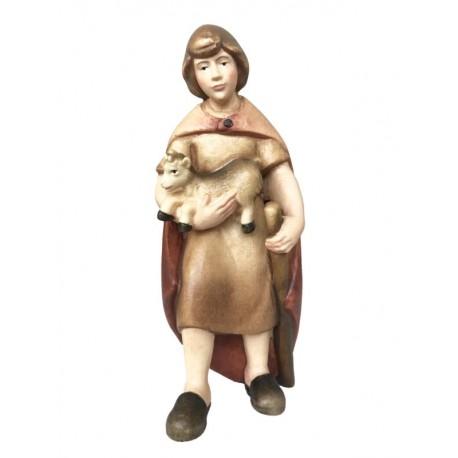 Shepherd carved maple wood - Dolfi Manger Christmas - Made in Italy - oil colors