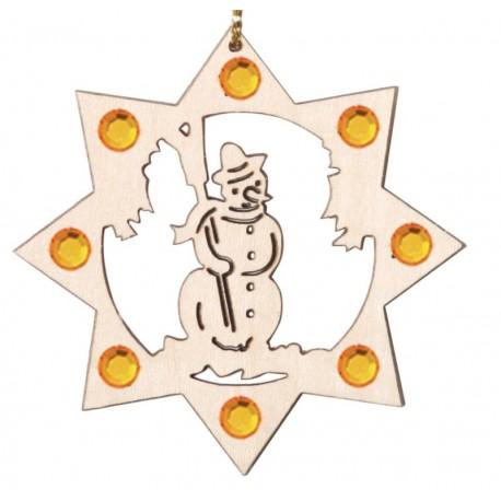 Baumbehang Schneemann mit Swarovski Kristallen