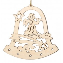 Laser-Cut Wooden Christmas Ornament  - Dolfi Laser Cut wood Ornaments - Made in Italy
