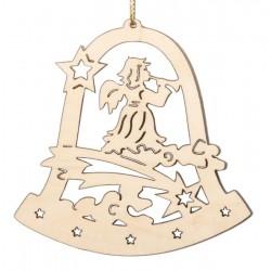 Weihnachtsstimmung; Dolfi Christbaumschmuck Weiß, diese Skulptur ist eine edle Grödner Schnitzerei