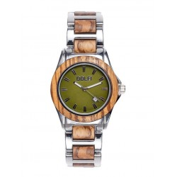 Women's watch in oli wood and steel