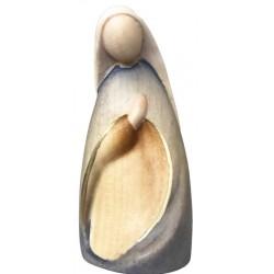 Maria scolpita in legno - colorato a olio