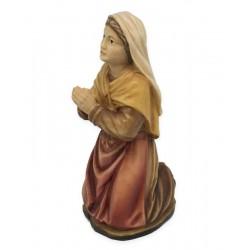 Bernardetta finemente scolpita in legno e dipinta a mano