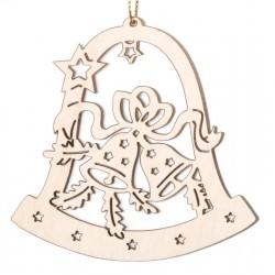 Glocke mit Glöckchen; Dolfi Weihnachtsschmuck Weiß, diese Kreation ist eine edle Grödner Schnitzerei