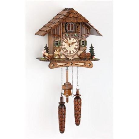 Kuckucksuhr batteriebetrieben; Dolfi Geschenke zur Hochzeit aus Holz, Original Grödner Schnitzereien