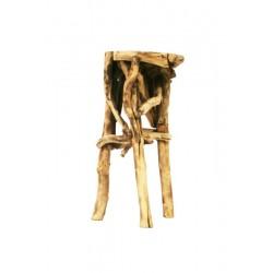 Base per vasi o lampade in radica di bosco
