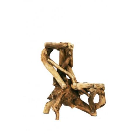 Base a due piani in radici di bosco originale e versatile