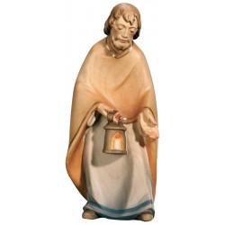Hl. Josef aus Ahornholz geschnitzt, diese Holzschnitzerei ist eine wichtige Südtiroler Holzfigur - Ölfarben lasiert