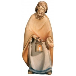 St Joseph carved in maple wood  - Dolfi Nativity Ornaments - Made in Italy - oil colors