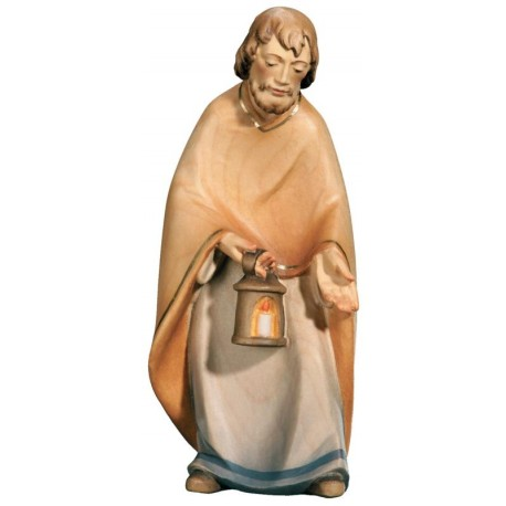 St. Joseph carved in maple wood  - lightly colored with oil paint