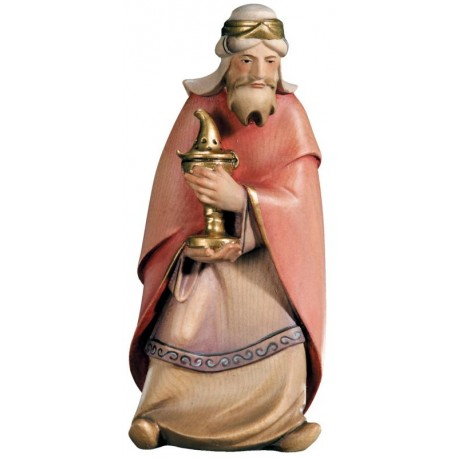 König Weiss Melchior aus Holz - lasiert