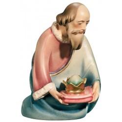 Re Magio Baldassarre in legno - colorato a olio