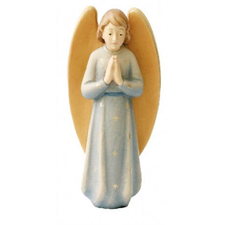 Gloria Angel carved in wood - color