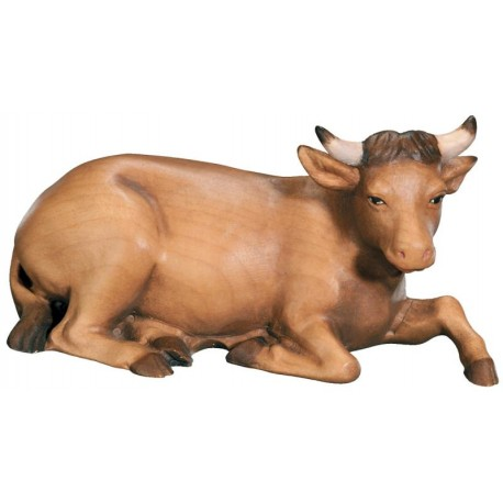 Ox carved in maple wood  - the size of the animal is in Proportion to the size of the Figures - oil colors
