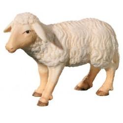 Pecora al seguito dei pastori del presepe scolpito in legno d'acero - colorato colori pastello