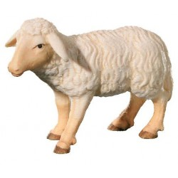 Standing Sheep carved in wooden - color
