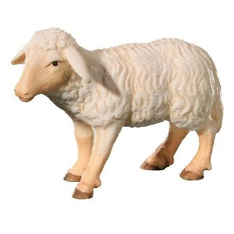 Standing Sheep carved in wood - color