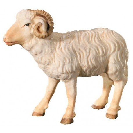 Ram carved in wood - color