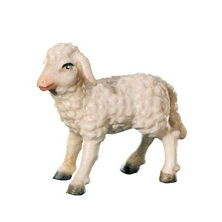 Lamb carved in maple wood  - the size of the animal is in Proportion to the size of the Figures - oil colors