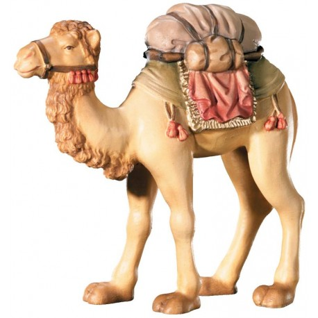 Camel carved in wood - color