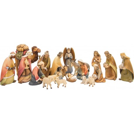 Entire Nativity Set 20 Pcs without Stable - Dolfi small Nativity Set - Made in Italy - oil colors