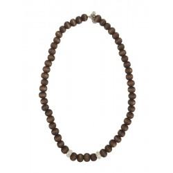 Halskette aus Holz Natur