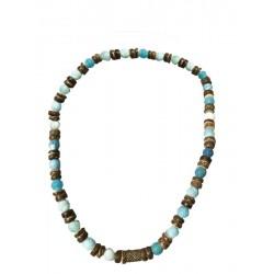Halskette Holz Handgearbeitet