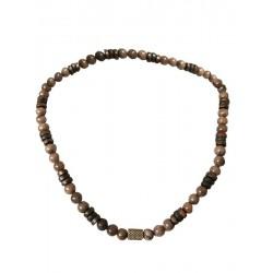Holz-Halskette aus Natur