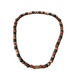Natur Halskette mit Holz