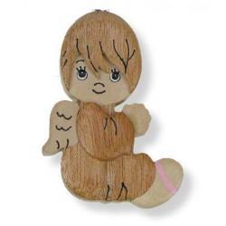 Bomboniera in legno scolpito Angelo Custode