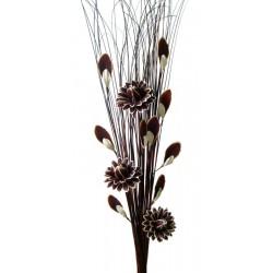 Fiori e foglie di legno