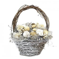 Basket with Natural flowers