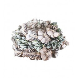 Winter Tealight Holder Composed of Dry Branches and Leaves - Table Decor  - Dolfi Mothers Day Sale