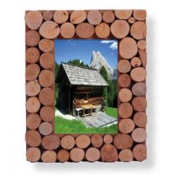 Cornice rettangolare in legno a rondelle