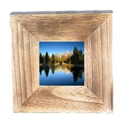 Photo Frame in wood 20,5 X 20,5 X 4 cm