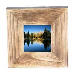Portafoto in legno 20,5x20,5x4 - Dolfi regali per natale, Val Gardena