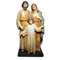 Holy Family in paste of wood