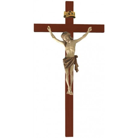 Balken gebogen mit Christuskörper - mehrfach gebeizt
