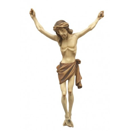 Christuskörper mit Dornenkrone - mehrfach gebeizt