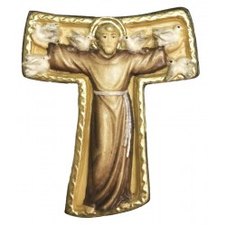 Tau Cross St. Francis wooden - color