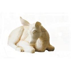 Hirschkalb aus Lindenholz geschnitzt | Dolfi Ostergeschenke, diese Kreation ist in Gröden produziert