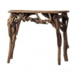 Tisch aus Waldwurzeln Holz