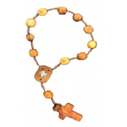 Rosary in holy wood 4 inch