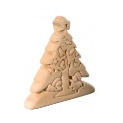 Educativo puzzle tridimensionale Albero natalizio