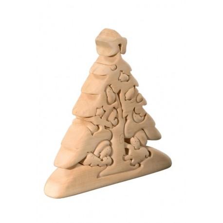 Albero di Natale puzzle 3d in legno di tiglio