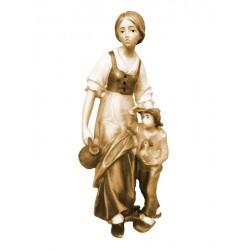 Shepherdess with boy