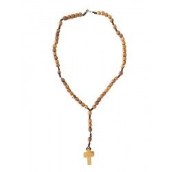 Rosary in holy wood 14 inch