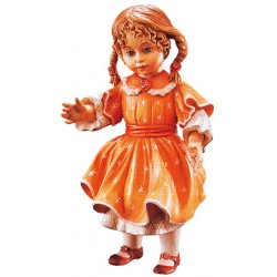 Freestanding Doll Verena carved in wood Collectible Figure Mothers Day Craft Ideas - Made in Italy