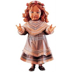 Freestanding Doll Karin carved in wood Collectible Figure - Dolfi Home Gifts - Made in Italy