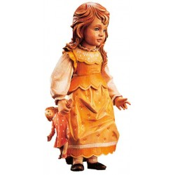 Freestanding Doll Elisabeth carved in wood Collectible Figure - Dolfi 6Th Wedding Anniversary Gift